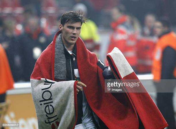 Pascal Stenzel of Freiburg nach dem Spiel looks on during the Bundesliga match between Bayer 04 Leverkusen and SC Freiburg at BayArena on December 3...