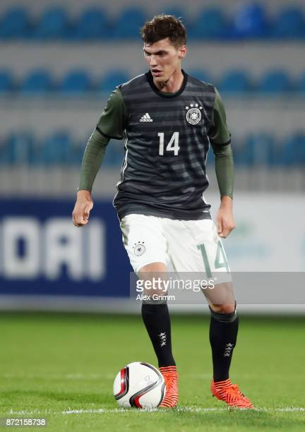Pascal Stenzel of Germany controls the ball during the UEFA Under21 Euro 2019 Qualifier match between Azerbaijan U21 and Germany U21 at Dalga Arena...