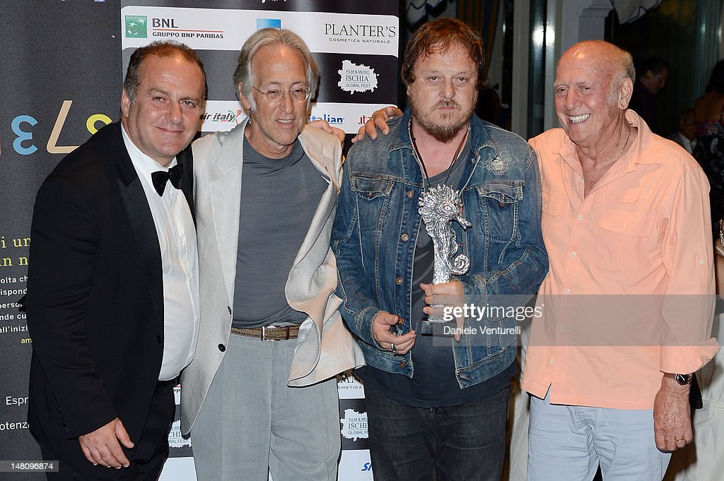 Pascal Vicedomini, Recording Academy President/CEO <a gi-track='captionPersonalityLinkClicked' href=/galleries/search?phrase=Neil+Portnow&family=editorial&specificpeople=208909 ng-click='$event.stopPropagation()'>Neil Portnow</a> and Zucchero Adelmo Fornaciari attend Day 2 of the 2012 Ischia Global Fest on July 9, 2012 in Ischia, Italy.