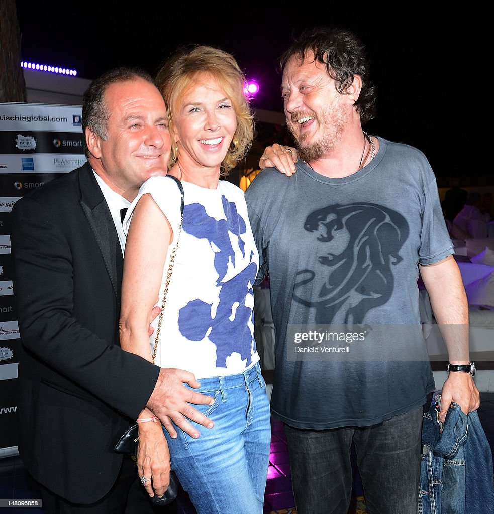 Pascal Vicedomini, <a gi-track='captionPersonalityLinkClicked' href=/galleries/search?phrase=Trudie+Styler&family=editorial&specificpeople=203268 ng-click='$event.stopPropagation()'>Trudie Styler</a> and Zucchero Adelmo Fornaciari attend Day 2 of the 2012 Ischia Global Fest on July 9, 2012 in Ischia, Italy.