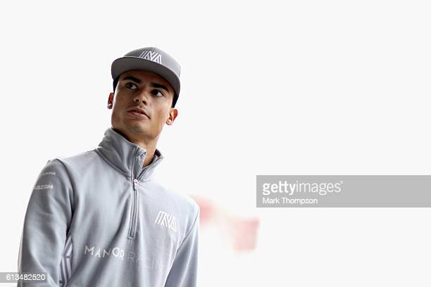Pascal Wehrlein of Germany and Manor Racing on the drivers parade before the Formula One Grand Prix of Japan at Suzuka Circuit on October 9 2016 in...