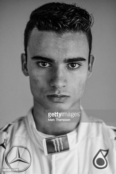 Pascal Wehrlein of Germany and Mercedes GP poses for a portrait during day three of Formula One Winter Testing at Circuit de Catalunya on February 21...
