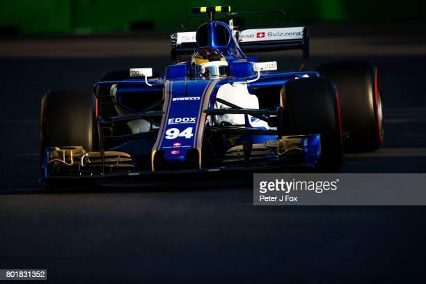 Pascal Wehrlein of Germany and Sauber during the Azerbaijan Formula One Grand Prix at Baku City Circuit on June 25 2017 in Baku Azerbaijan