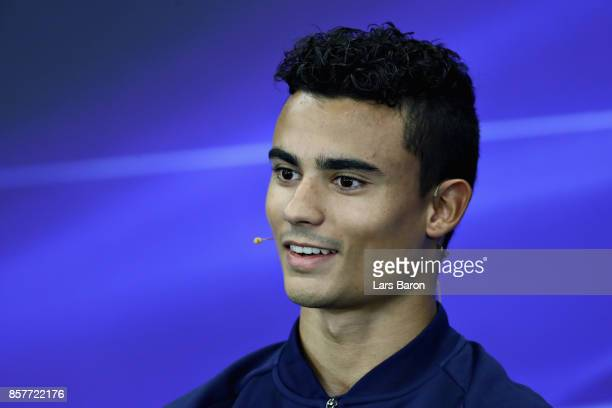 Pascal Wehrlein of Germany and Sauber F1 in the Drivers Press Conference during previews ahead of the Formula One Grand Prix of Japan at Suzuka...