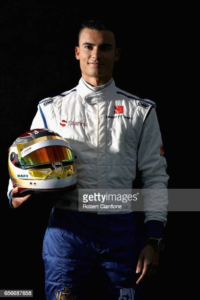 Pascal Wehrlein of Germany and Sauber F1 poses for a portrait during previews to the Australian Formula One Grand Prix at Albert Park on March 23...