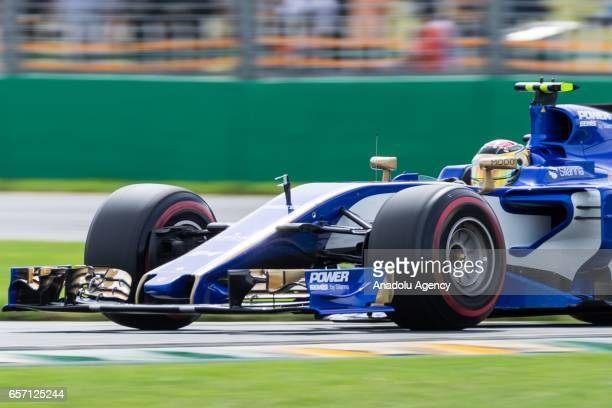 Pascal Wehrlein of Germany driving for the Sauber F1 Team on Friday Free Practice during the 2017 Rolex Australian Formula 1 Grand Prix at Albert...