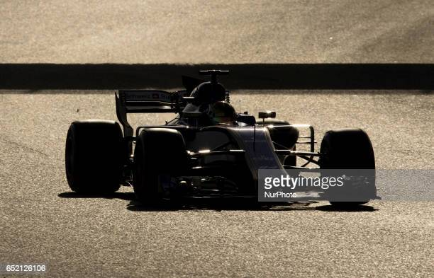 Pascal Wehrlein of Germany driving the Sauber F1 Team Sauber C36 Ferrari in action during the Formula One winter testing at Circuit de Catalunya on...