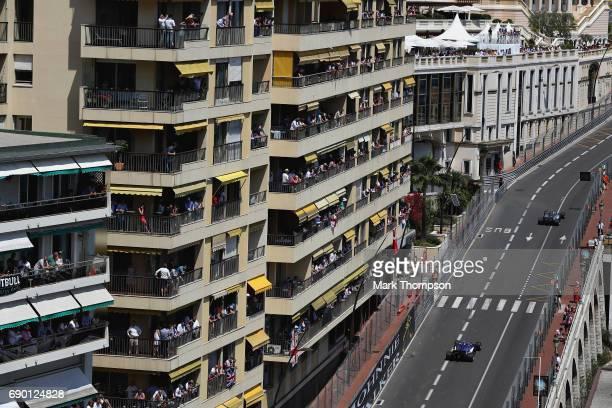 Pascal Wehrlein of Germany driving the Sauber F1 Team Sauber C36 Ferrari on track during the Monaco Formula One Grand Prix at Circuit de Monaco on...