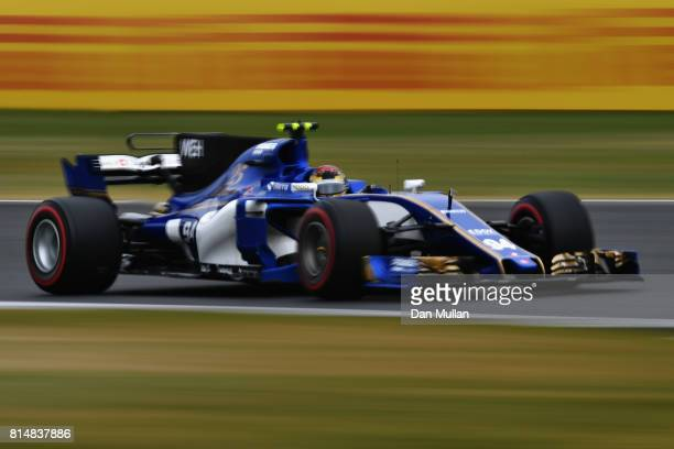Pascal Wehrlein of Germany driving the Sauber F1 Team Sauber C36 Ferrari on track during final practice for the Formula One Grand Prix of Great...