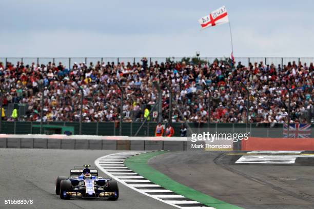 Pascal Wehrlein of Germany driving the Sauber F1 Team Sauber C36 Ferrari on track during the Formula One Grand Prix of Great Britain at Silverstone...