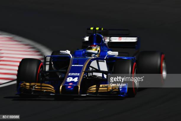 Pascal Wehrlein of Germany driving the Sauber F1 Team Sauber C36 Ferrari on track during final practice for the Formula One Grand Prix of Hungary at...