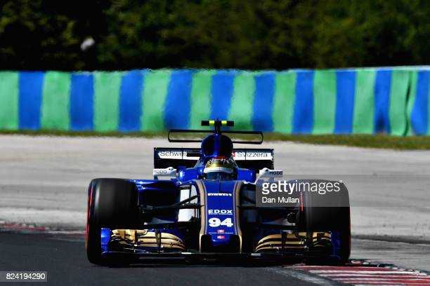 Pascal Wehrlein of Germany driving the Sauber F1 Team Sauber C36 Ferrari on track during qualifying for the Formula One Grand Prix of Hungary at...