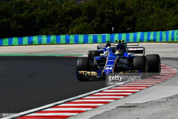 Pascal Wehrlein of Germany driving the Sauber F1 Team Sauber C36 Ferrari on track during the Formula One Grand Prix of Hungary at Hungaroring on July...