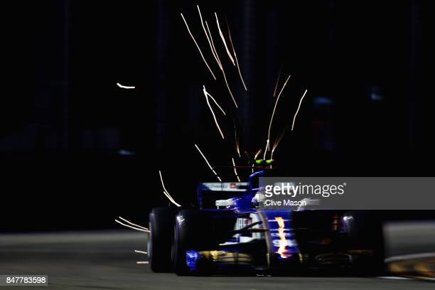 Pascal Wehrlein of Germany driving the Sauber F1 Team Sauber C36 Ferrari on track during final practice for the Formula One Grand Prix of Singapore...