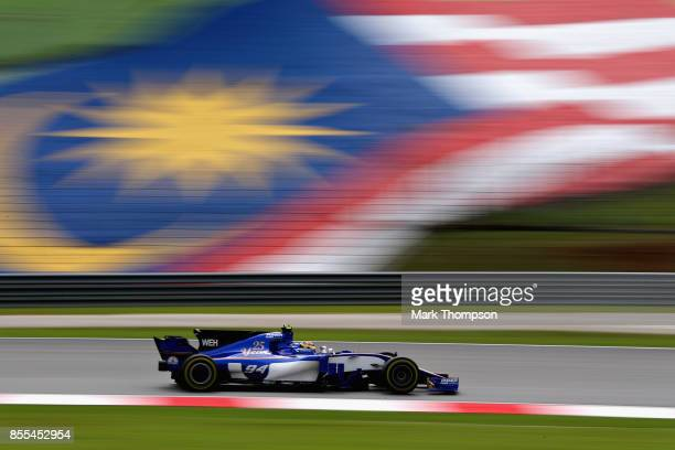 Pascal Wehrlein of Germany driving the Sauber F1 Team Sauber C36 Ferrari on track during practice for the Malaysia Formula One Grand Prix at Sepang...