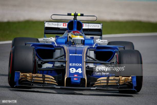 Pascal Wehrlein of Germany driving the Sauber F1 Team Sauber C36 Ferrari on track during final practice for the Malaysia Formula One Grand Prix at...