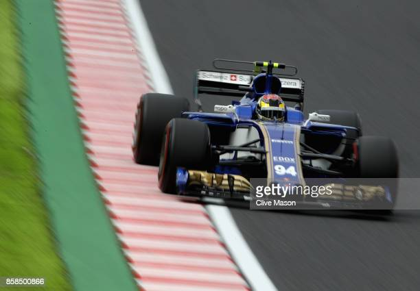 Pascal Wehrlein of Germany driving the Sauber F1 Team Sauber C36 Ferrari on track during final practice for the Formula One Grand Prix of Japan at...
