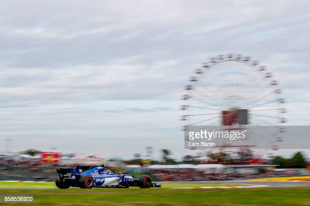 Pascal Wehrlein of Germany driving the Sauber F1 Team Sauber C36 Ferrari on track during qualifying for the Formula One Grand Prix of Japan at Suzuka...