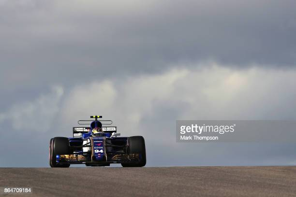 Pascal Wehrlein of Germany driving the Sauber F1 Team Sauber C36 Ferrari on track during final practice for the United States Formula One Grand Prix...