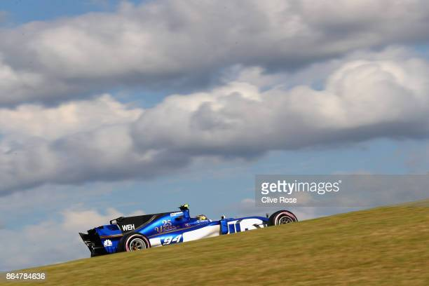 Pascal Wehrlein of Germany driving the Sauber F1 Team Sauber C36 Ferrari on track during qualifying for the United States Formula One Grand Prix at...