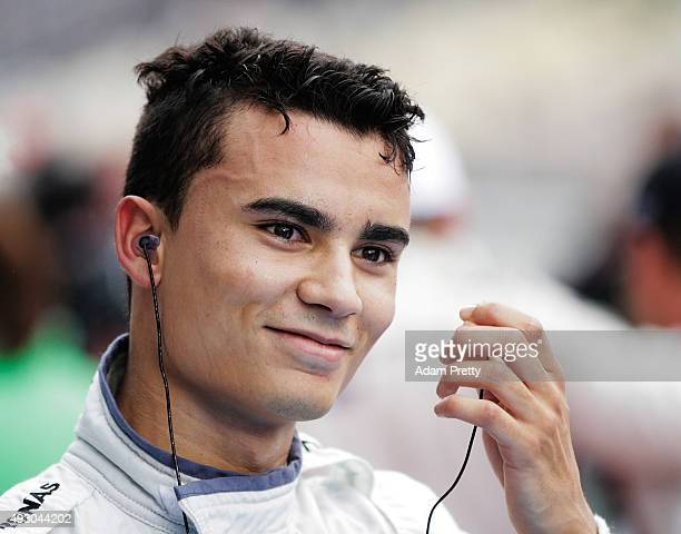 Pascal Wehrlein of gooix Mercedes AMG smiles after winning the DTM championship after race 1 of the DTM German Touring Car Hockenheim Race at...