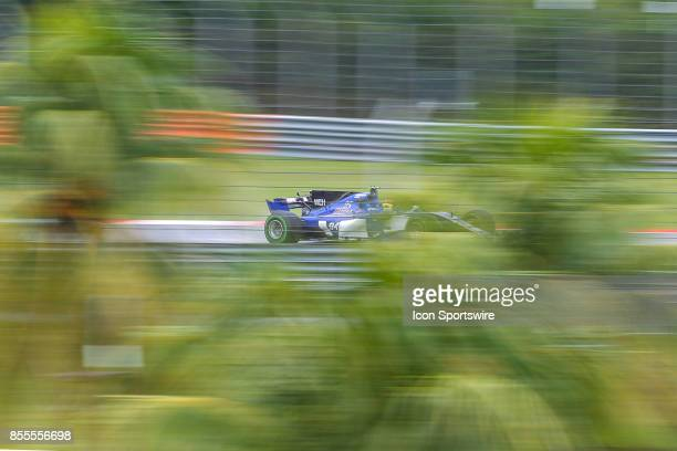 Pascal Wehrlein of Sauber F1 Team in action during friday free practice of the Formula 1 Petronas Malaysia Grand Prix held at Sepang International...