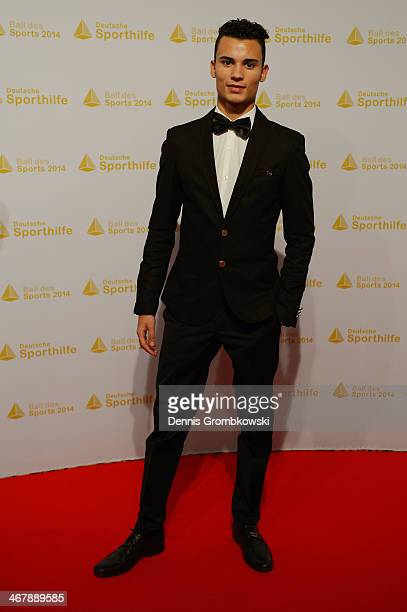 Pascal Wehrlein poses on his arrival at the Ball des Sports 2014 at RheinMainHalle on February 8 2014 in Wiesbaden Germany