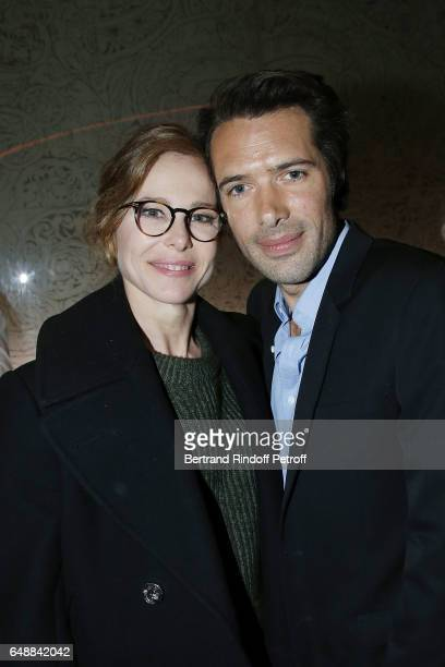 Pascale Arbillot and Nicolas Bedos attend 'Monsieur Madame Andelman' Premiere Hosted By Fondation Barriere at Cinema Elysee Biarritz on March 6 2017...