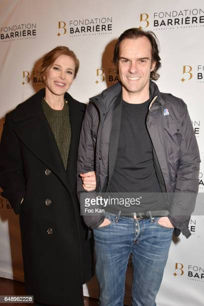 Pascale Arbillot and Sebastien Thierryattend 'Monsieur et Madame Adelman' Premiere at Elysee Biarritz on March 6 in Paris France