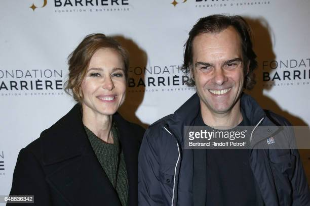 Pascale Arbillot and Sebastien Thiery attend 'Monsieur Madame Andelman' Premiere Hosted By Fondation Barriere at Cinema Elysee Biarritz on March 6...