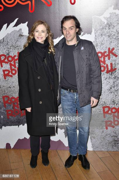Pascale Arbillot and Sebastien Thiery attend the 'Rock'N Roll' Premiere at Cinema Pathe Beaugrenelle on February 13 2017 in Paris France