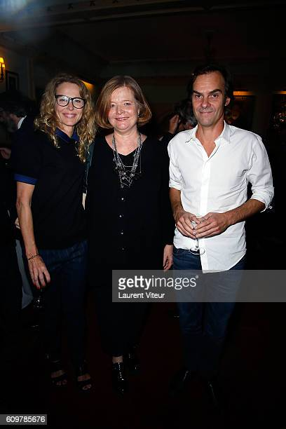 Pascale Arbillot Anne Benoit and Sebastien Thiery attend 'Couple' Theater Play at Theatre Edouard VII on September 22 2016 in Paris France