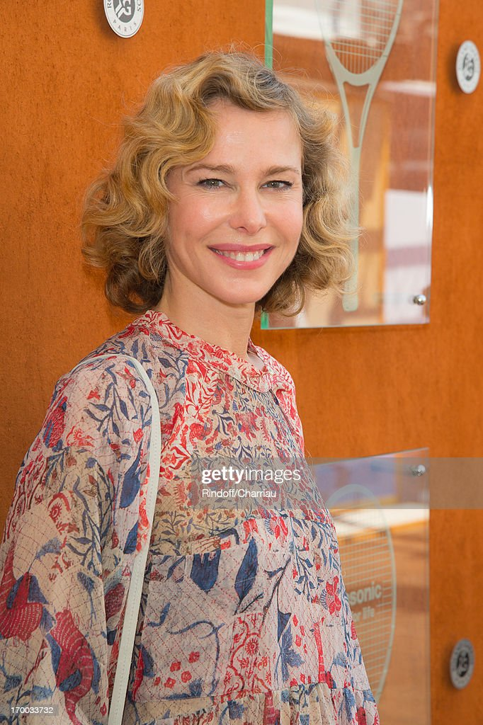 Pascale Arbillot sighting at Roland Garros Tennis French Open 2013 - Day 12 on June 6, 2013 in Paris, France.