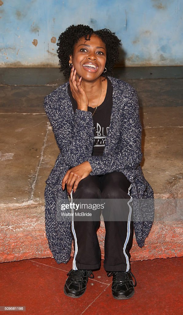 Pascale Armand attends the meet and greet the all-female cast and creative team and launch of the 10,000 girls initiative of Broadway's 'Eclipsed' at the Golden Theatre on February 11, 2016 in New York City.