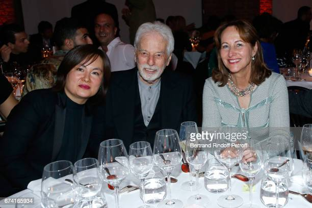 Pascale MontandonJodorowsky Alejandron Jodorowsky and Segolene Royal attend the 'pascALEjandro L'Androgyne Alchimique' Exhibition Opening at Azzedine...