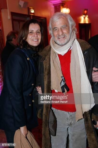 Pascale Pouzadoux and JeanPaul Belmondo attend 'Depardieu Chante Barbara' at 'Le Cirque D'Hiver' on November 16 2017 in Paris France