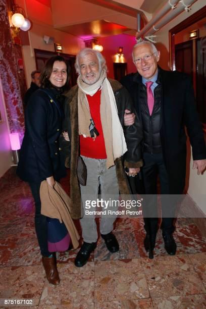 Pascale Pouzadoux JeanPaul Belmondo and guest attend 'Depardieu Chante Barbara' at 'Le Cirque D'Hiver' on November 16 2017 in Paris France
