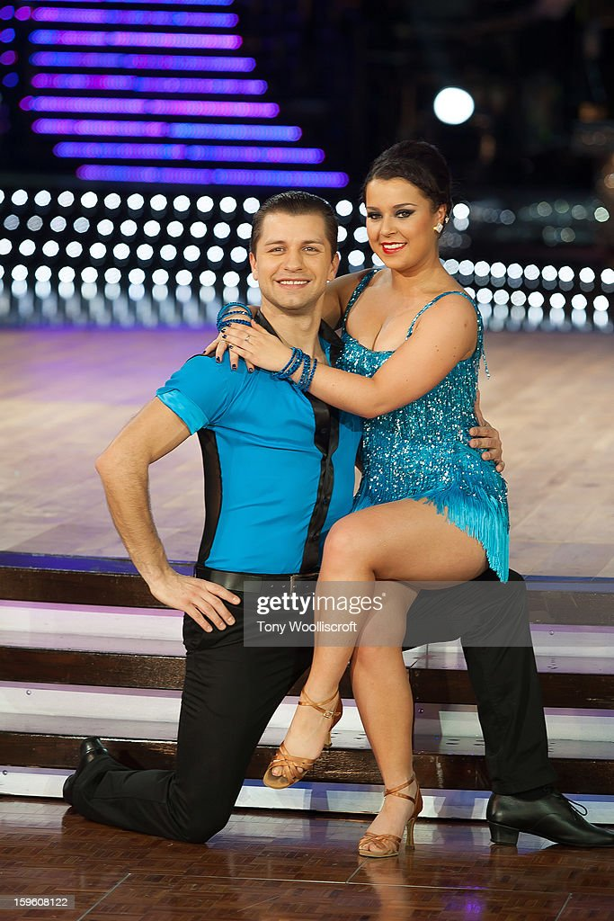 Pasha Kovalev and Dani Harmer attends a photocall ahead of the Strictly Come Dancing Live Tour at NIA Arena on January 17, 2013 in Birmingham, England.