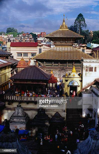 Pashupatinath Temple, Nepal's most important Hindu temple stands on the banks of the Bagmati River.