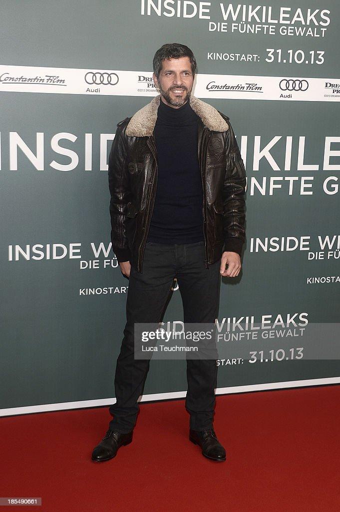 Pasquale Aleardi attends the 'Inside Wikileaks' Germany Premiere at Kulturbrauerei on October 21, 2013 in Berlin, Germany.