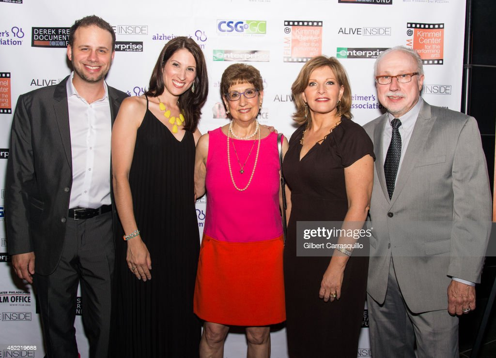 Pasquale DeFazio, Amanda DeFazio, Amy Zimmerman Freese, CBS3 Health Reporter Stephanie Stahl and <a gi-track='captionPersonalityLinkClicked' href=/galleries/search?phrase=David+Freese+-+Baseball+Player&family=editorial&specificpeople=4948315 ng-click='$event.stopPropagation()'>David Freese</a> of the Derek Freese Documentary Fund attend the 'Alive Inside' screening at Kimmel Center for the Performing Arts on July 15, 2014 in Philadelphia, Pennsylvania.