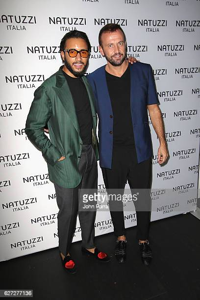 Pasquale Junior Natuzzi and Mauro Porcini attend the Natuzzi Presents The US Debut Of Intro By Fabio Novembre at Natuzzi Showroom on December 2 2016...