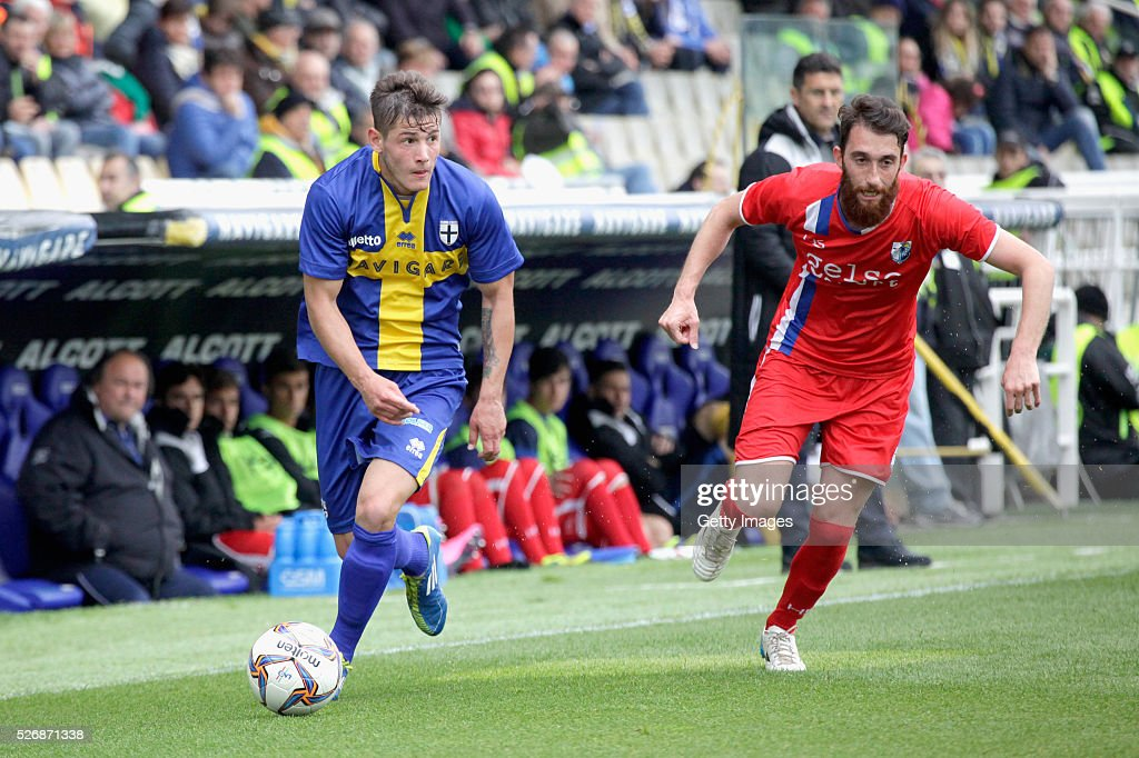 Pasquale Mazzocchi of Parma in action during the Serie A match between Parma Calcio 1913 and Bellaria Igea Marina at Stadio Ennio Tardini on May 1, 2016 in Parma, Italy.