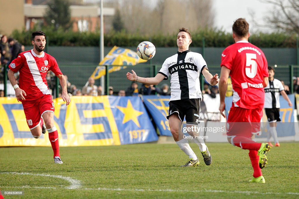 Pasquale Mazzocchi of Parma in action during the Serie D match between Correggese Calcio and Parma Calcio 1913 on February 7, 2016 in Valdagno, Italy.