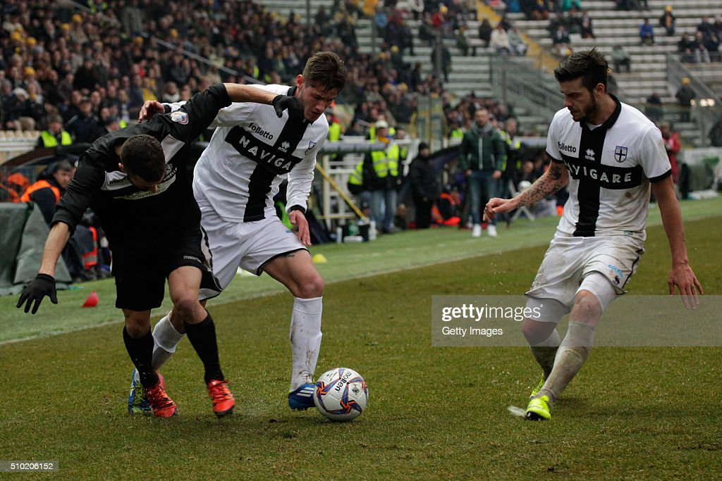 Pasquale Mazzocchi of Parma in action during the Serie D match between Parma Calcio 1913 and Ribelle at Stadio Ennio Tardini on February 14, 2016 in Parma, Italy.