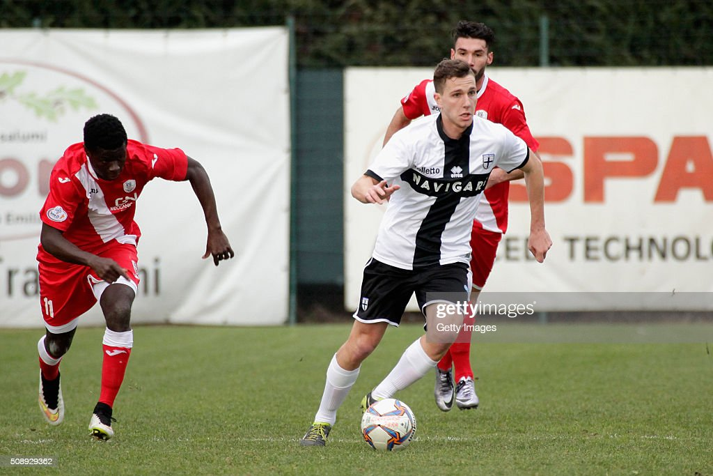 Pasquale Mazzocchi of Parma in action durnig the Serie D match between Correggese Calcio and Parma Calcio 1913 on February 7, 2016 in Valdagno, Italy.