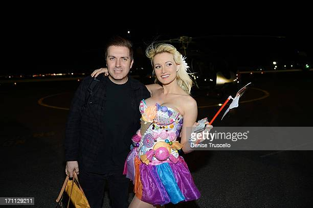 Pasquale Rotella and Holly Madison arrive at the 17th annual Electric Daisy Carnival at Las Vegas Motor Speedway on June 21 2013 in Las Vegas Nevada
