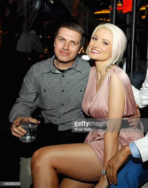 Pasquale Rotella and Holly Madison celebrate Memorial Weekend at the Chateau Nightclub Gardens at the Paris Las Vegas on May 25 2012 in Las Vegas...