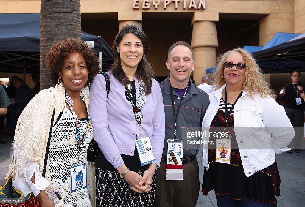 Pass holders outside the Egyptian Theatre is seen during day 3 of the TCM Classic Film Festival 2016 on April 30, 2016 in Los Angeles, California. 25826_007