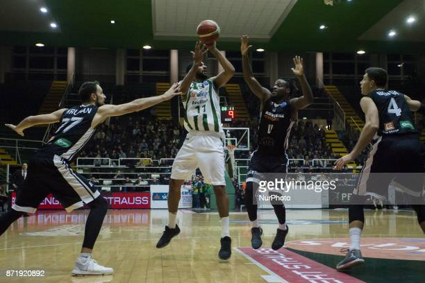 Pass of Thomas Scrubb of Sidigas AVellino during third day of Champions League match between Sidigas Avellino v Cez Nymburk at Palasport Giacomo Del...